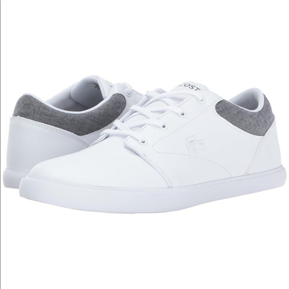 85080cd633305a Lacoste men s white sneakers size 10